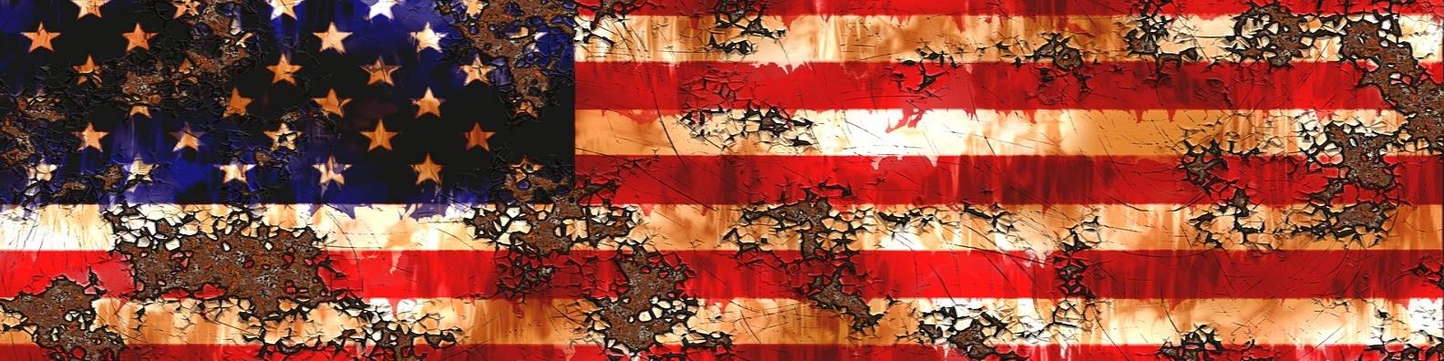 Rustic American Flag Gunny's Job Board